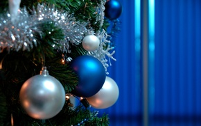 Picture holiday, widescreen, toys, HD wallpapers, Wallpaper, ball, full screen, Christmas decorations, background, fullscreen, spruce, widescreen, …