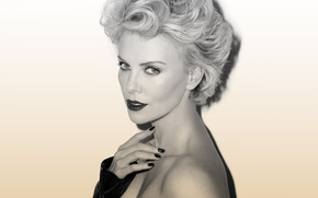 Picture Charlize Theron, portrait, photoshoot, Esquire