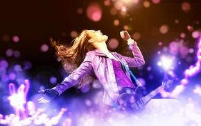 Picture girl, music, guitar, music, girl, guitar, rock, rock
