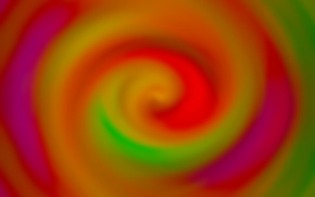 Picture orange, red, abstraction, background, Wallpaper, color, spiral, green