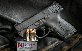 Picture weapons, Smith & Wesson, SHIELD, background, gun