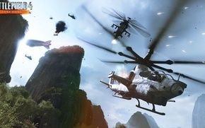 Picture rocks, Battlefield 4, China Rising.helicopter, air superiority
