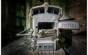 Picture background, oven, Boiler room