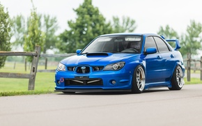 Picture tuning, turbo, wheels, subaru, japan, blue, wrx, impreza, jdm, tuning, power, front, Subaru, sti, face, …