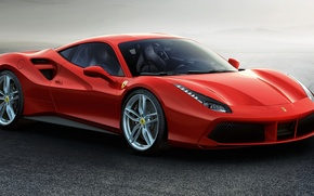 Wallpaper red, Ferrari, supercar, Ferrari, 2015, 488 GTB