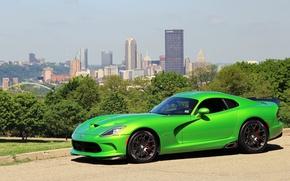 Picture green, viper, dodge, gts