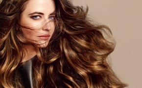 Picture hair, portrait, actress, celebrity, curls, Eva Green, Eva Green