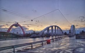 Picture bridge, channel, Shchukin, Khoroshevsky straightening, scenic