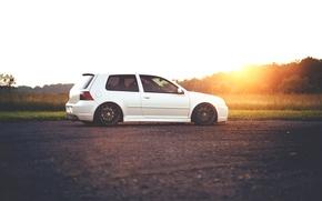 Picture white, R32, Golf, Turbo, Mk4