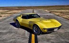 Picture Corvette, Chevrolet, 1969, Chevrolet, Stingray, Corvette