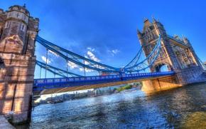 Picture bridge, river, England, HDR, Tower Bridge