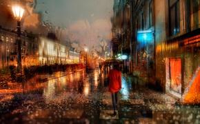Picture autumn, rain, Saint Petersburg, November, The Canal