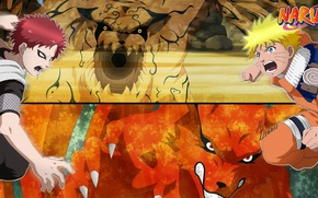 Picture blood, game, Naruto, red hair, fox, anime, boy, fight, tatoo, redhead, ninja, assassin, hero, asian, …