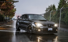 Picture turbo, subaru, black, japan, wrx, impreza, jdm, tuning, sti