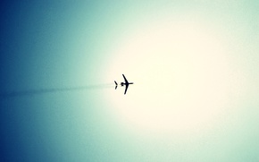 Picture the sky, blue, The plane