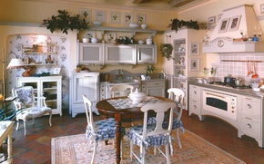Picture interior, kitchen, design. house, Provence style