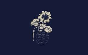 Picture Minimalism, Flower, Art, Art, Pomegranate