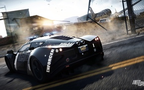 Picture Need for Speed, nfs, police, 2013, pursuit, marussia b2, Rivals, NFSR, strobe lights