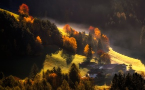 Picture autumn, light, mountains, nature, home, des