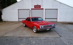 Picture Chevrolet, Red, 1967, Chevelle