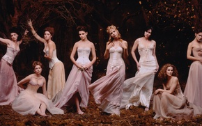 Picture forest, girls, vampires, actress