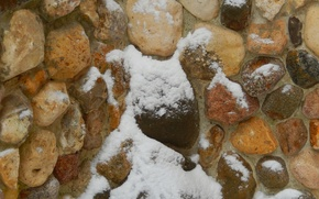 Picture snow, stones, background, wall, widescreen, Wallpaper, wallpaper, widescreen, background, beautiful Wallpaper, the Wallpapers, full screen, …