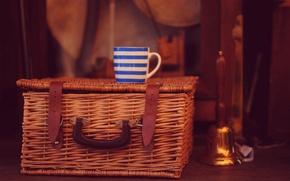 Picture basket, mug, Cup, basket, bell