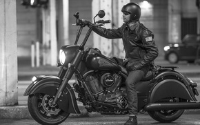 Picture photo, male, Cruiser, Indian Chief, 2016, Black Horse