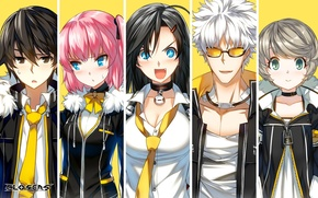 Picture collage, the game, characters, Closers