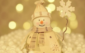 Picture background, holiday, toy, new year, blur, snowman