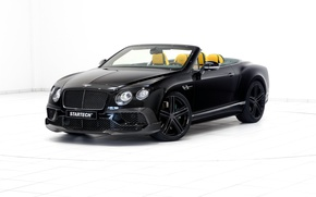 Picture black, Bentley, Continental, white background, convertible, Bentley, continental, Startech