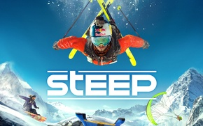 Picture Mountains, Snow, Ubisoft, Game, Steep, TheVideoGameGallery.com