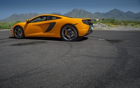 Picture the sky, mountains, orange, McLaren, orange, Mp4-12C, Malaren