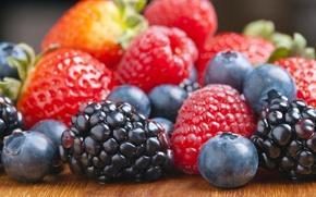Picture berries, raspberry, blueberries, strawberry, BlackBerry