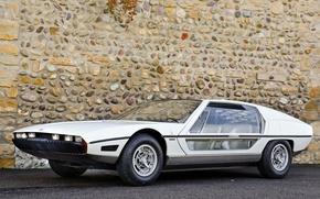 Picture Car, White, Lamborghini, Glass Door, Exotic, Lamborghini Silhouette 1976, Supercar