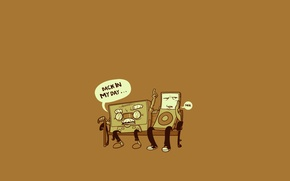 Wallpaper minimalism, creative, art, the situation, iPOD, Compact cassette