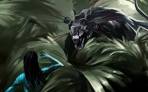 Picture forest, Avatar, Neytiri, Pandora, Thanator