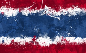 Picture paint, flag, flag, The Kingdom Of Thailand