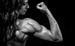 Picture pose, shoulders, muscle, brunette, fitness, muscle mass, bodybuilder