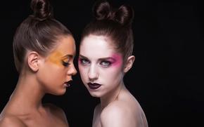 Wallpaper hair, lipstick, models, makeup, fashion, beauty, colors, makeup, girls, Maria, shapes, body, Jeanet, lips