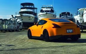 Picture Nissan, tuning, orange, 370z, vossen