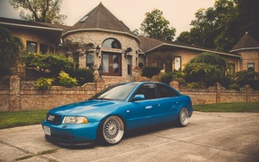 Picture Audi, Audi, tuning, blue, blue, stance