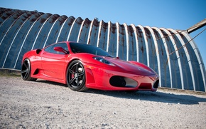 Picture the sky, red, shadow, red, ferrari, Ferrari, f430, F430