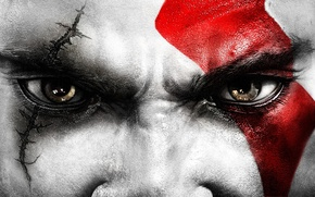 Picture eyes, Kratos, God Of War