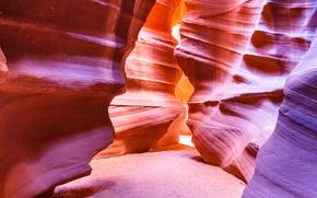 Wallpaper gorge, antelope canyon, paint, light, AZ, USA