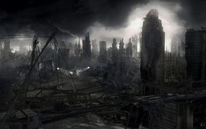 Wallpaper destruction, Apocalypse, the city