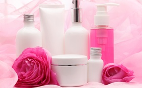 Picture flowers, beauty, care, flowers, cosmetics, beauty, cosmetics, creams, oils, creams, care, oil
