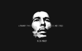Picture Minimalism, Black, Background, Bob Marley, Legend, Bob Marley, Reggae