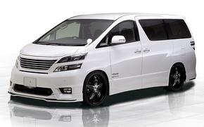 Picture Toyota, White, Tuning, Vellfire, Tommykaira Design