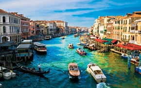 Picture home, boats, Venice